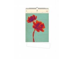 Luxusní dřevěný nástěnný kalendář Tulip 2021