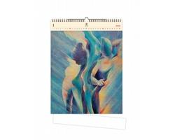 Luxusní dřevěný nástěnný kalendář Women II. 2021