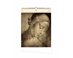Luxusní dřevěný nástěnný kalendář Da Vinci 2021