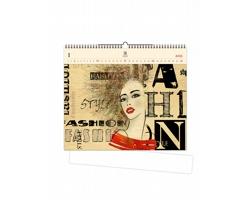 Luxusní dřevěný nástěnný kalendář Fashion 2021