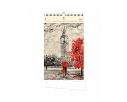 Luxusní dřevěný nástěnný kalendář Big Ben II. 2021