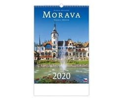 Nástěnný kalendář Morava / Moravia / Mähren 2020
