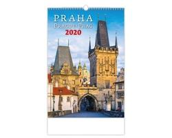 Nástěnný kalendář Praha / Prague / Prag 2020