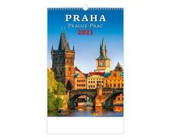 Nástěnný kalendář Praha/Prague/Prag 2021