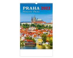 Nástěnný kalendář Praha/Prague/Prag 2022