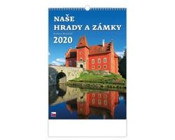 Nástěnný kalendář Naše hrady a zámky 2020