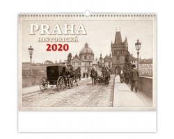 Nástěnný kalendář Praha historická 2020