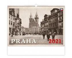 Nástěnný kalendář Praha historická 2021