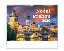 Nástěnný kalendář Noční Prahou 2020