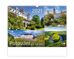 Nástěnný kalendář Putování po Česku 2021