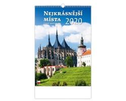 Nástěnný kalendář Nejkrásnější místa ČR 2020