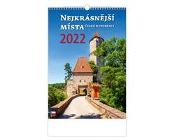 Nástěnný kalendář Nejkrásnější místa ČR 2022