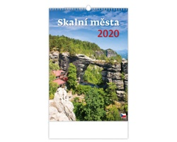 Nástěnný kalendář Skalní města 2020