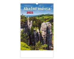 Nástěnný kalendář Skalní města 2021
