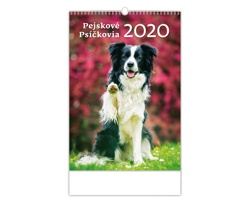 Nástěnný kalendář Pejskové / Psíčkovia 2020