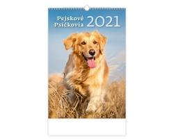 Nástěnný kalendář Pejskové/Psíčkovia 2021