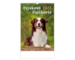Nástěnný kalendář Pejskové/Psíčkovia 2022