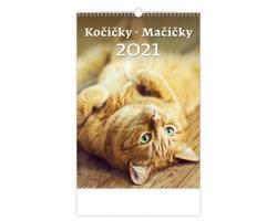 Nástěnný kalendář Kočičky/Mačičky 2021