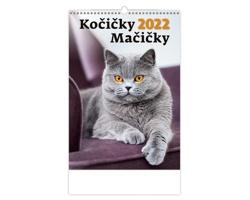 Nástěnný kalendář Kočičky/Mačičky 2022