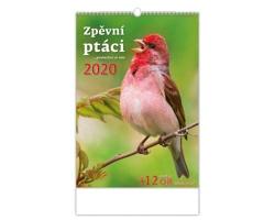 Nástěnný kalendář Zpěvní ptáci 2020