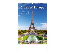 Nástěnný kalendář Cities of Europe 2021
