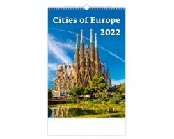 Nástěnný kalendář Cities of Europe 2022