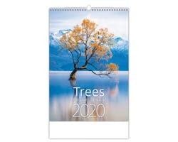 Nástěnný kalendář Trees / Bäume / Stromy 2020