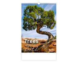 Nástěnný kalendář Trees/Bäume/Stromy 2022