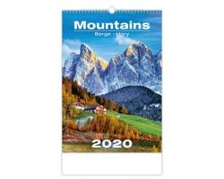 Nástěnný kalendář Mountains / Berge / Hory 2020