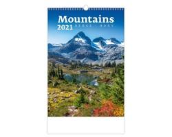 Nástěnný kalendář Mountains/Berge/Hory 2021