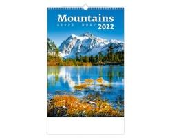 Nástěnný kalendář Mountains/Berge/Hory 2022