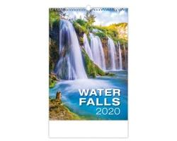 Nástěnný kalendář Waterfalls 2020