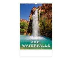 Nástěnný kalendář Waterfalls 2021