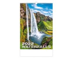 Nástěnný kalendář Waterfalls 2022