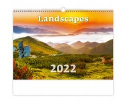 Nástěnný kalendář Landscapes 2022