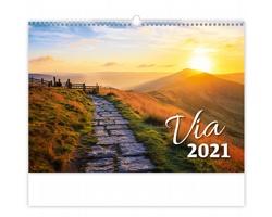 Nástěnný kalendář Via 2021
