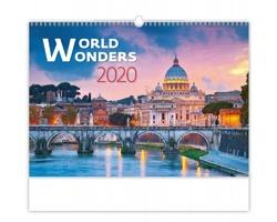 Nástěnný kalendář World Wonders 2020