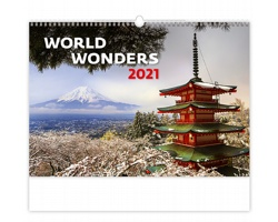 Nástěnný kalendář World Wonders 2021