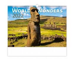 Nástěnný kalendář World Wonders 2022