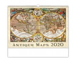 Nástěnný kalendář Antique Maps 2020