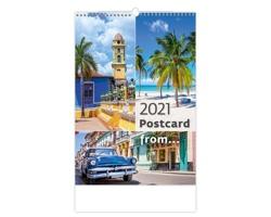 Nástěnný kalendář Postcard from… 2021