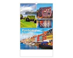 Nástěnný kalendář Postcard from… 2020