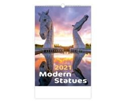 Nástěnný kalendář Modern Statues 2021