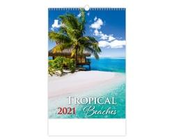 Nástěnný kalendář Tropical Beaches 2021