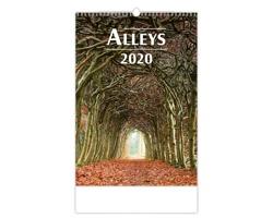 Nástěnný kalendář Alleys 2020