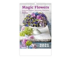 Nástěnný kalendář Magic Flowers/Magische Blumen/Živé květy/Živé kvety 2021