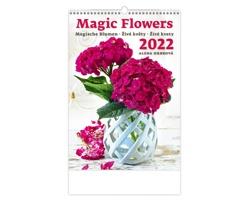 Nástěnný kalendář Magic Flowers/Magische Blumen/Živé květy/Živé kvety 2022