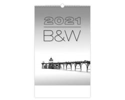 Nástěnný kalendář B & W 2021
