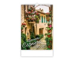 Nástěnný kalendář Romantic Corners 2020