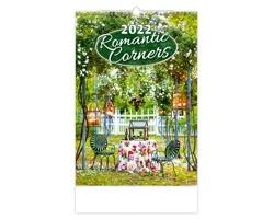 Nástěnný kalendář Romantic Corners 2022